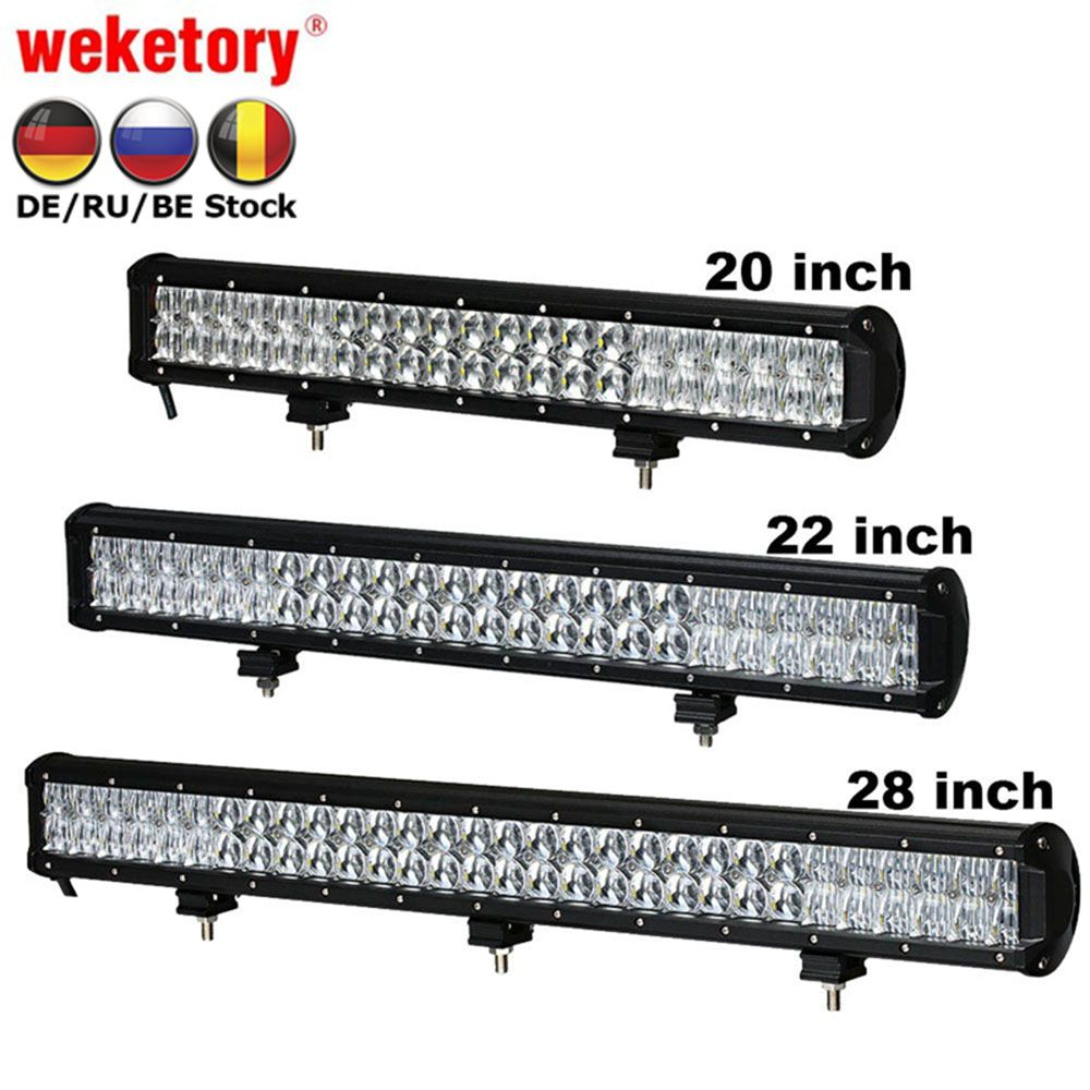 weketory 5D 20 22 28 inch 210W 240W 300W LED Work Light Bar for Tractor Boat OffRoad 4WD 4x4 Truck SUV ATV Combo Beam