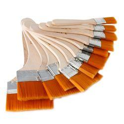 12 pcs/ensemble Haute qualité nylon Mao Banshua peinture à l'huile brosse artistes BARBECUE brosse pour peinture art Facile À Nettoyer en bois de nettoyage brosse