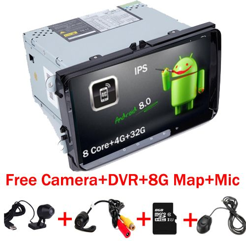 Android 8.0 car multmedia player GPS for Volkswagen VW Golf 5 6 passat CC B6 B7 polo Skoda Seat Leon Radio MK5 MK6 Wifi Stereo