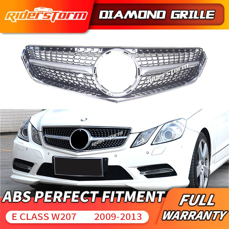 W207 diamant Grill C207 frontgrill Für Mercedes Benz E Coupe w207 Facelift Frontschürze Sport 2009-2013 E200 stoßstange grille