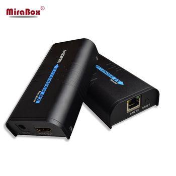 HDMI Extender Over IP/TCP UTP/STP CAT5e/6 Rj45 LAN Network Support 1080p 120m Extension Like HDMI Splitter Transmitter Receiver
