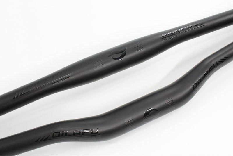 Le plus nouveau logo noir QILEFU VTT mat UD plein guidon de vélo en fibre de carbone vtt pièces le plus léger 31.8*600-740mm livraison gratuite