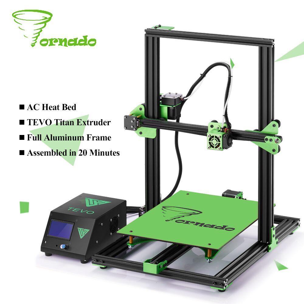 Newest TEVO Tornado Fully Assembled 3D Printer Impresora 3D Full Aluminium Frame with Titan Extruder Large Printing Area