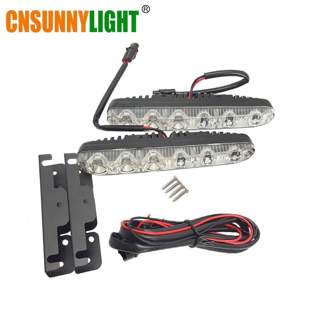 CNSUNNYLIGHT LED Daytime Running Light Waterproof Universal DRL Kit Led Auto Driving Work Light External Fog Lamp 6000K 12V