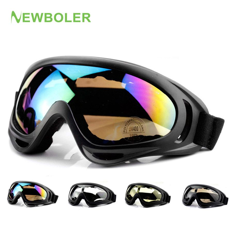 NEWBOLER MTB Glasses Off Road Racing Motocross glasses Man/Woman DH Downhill Dirt Mountain Bike Bicycle Cycling glasses 5 Color