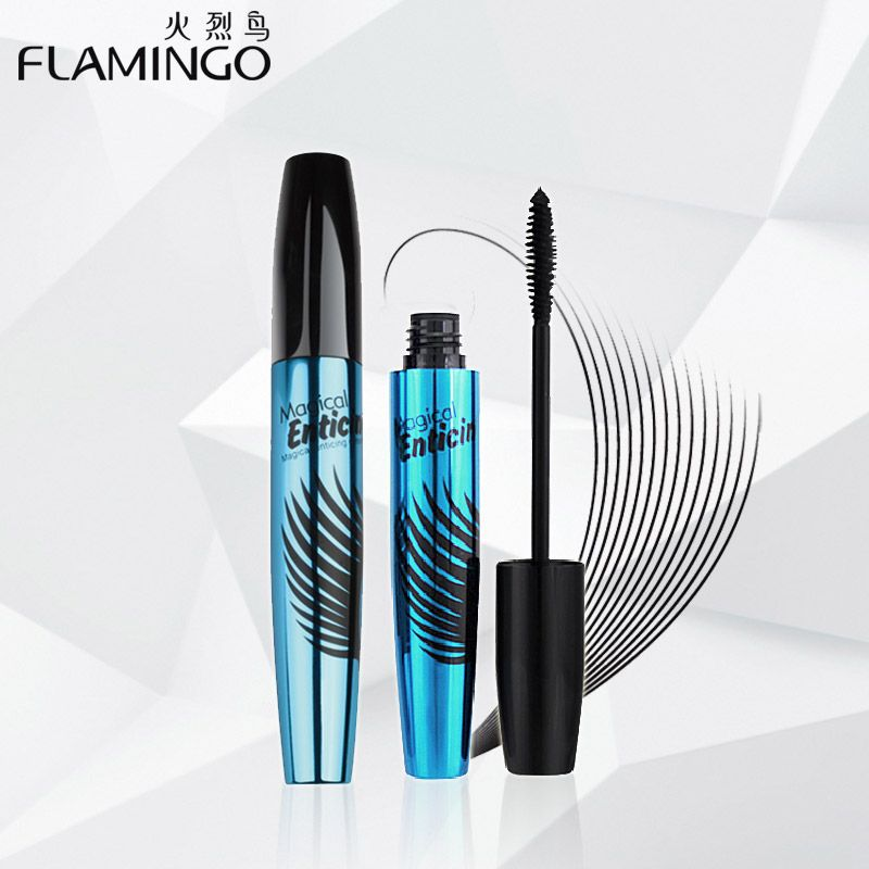 China Top Mascara Brand Flamingo charm eyelashes thick Mascara Water remover magical Enticing dense mascara 6365