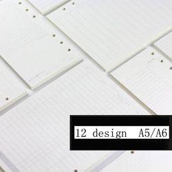 A5/A6 Spirale Papier De Remplissage Portable Pour Filofax Diario Planificateur Intérieure Pages De Remplacement Bureau Accessoires Liant Livre Papier