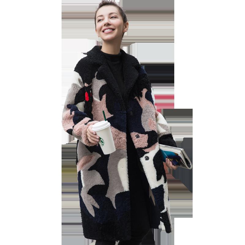 Herbst Winter Jacke Frauen Kleidung 2018 Korean Echten Pelzmantel Wolle Jacke Vintage Lambswool Mäntel doppelseitigen Pelz Tops ZT1144