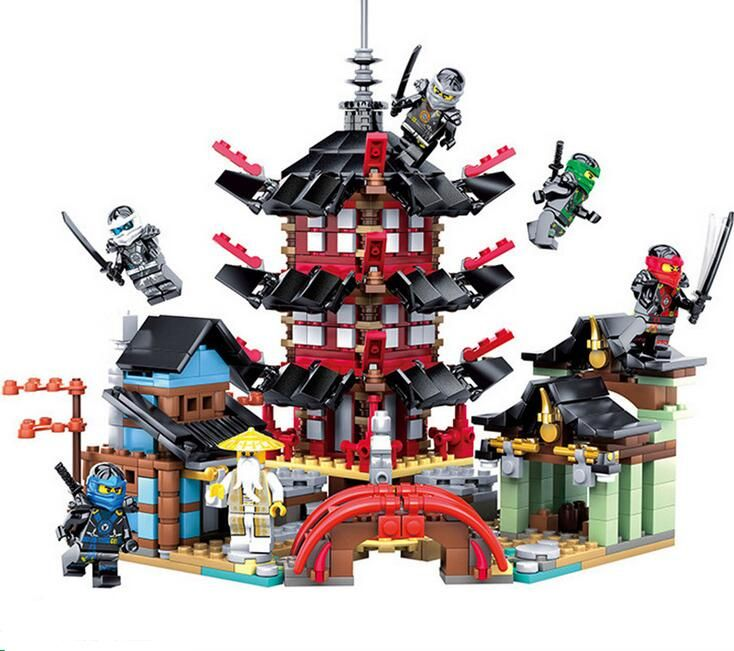 KAZI 737pcs 2017 105 Ninja Super heroes Temple of Airjitzu Building Blocks Toys Gift Compatible With 70751 Toys for children