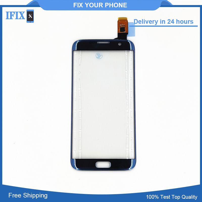 Für Samsung Galaxy S7 Rand G935 G935F Touchscreen Digitizer Frontglas Sensor Rosa Blau Grau Gold Bunte Ersatz
