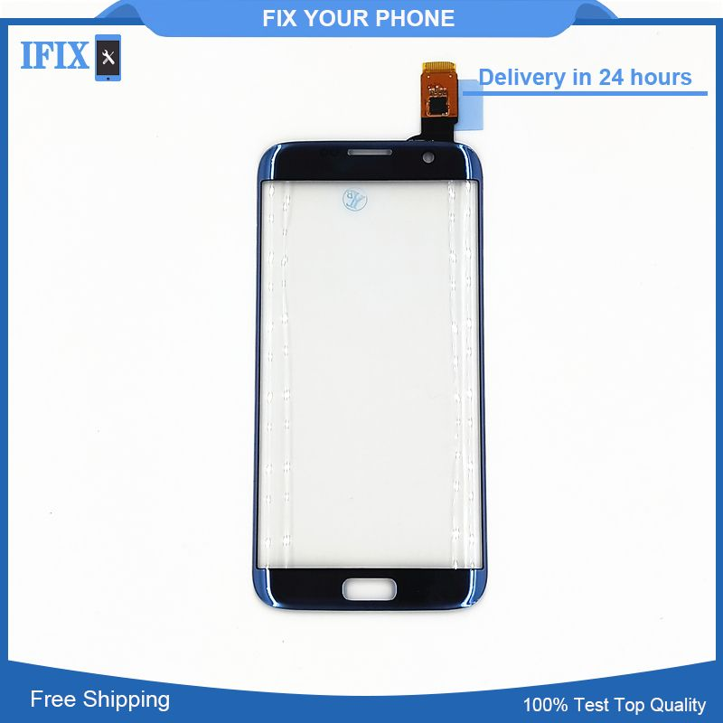 For Samsung Galaxy S7 Edge G935 G935F Touch Screen Digitizer  Front Glass Sensor Pink Blue Gray Gold Colorful Replacement