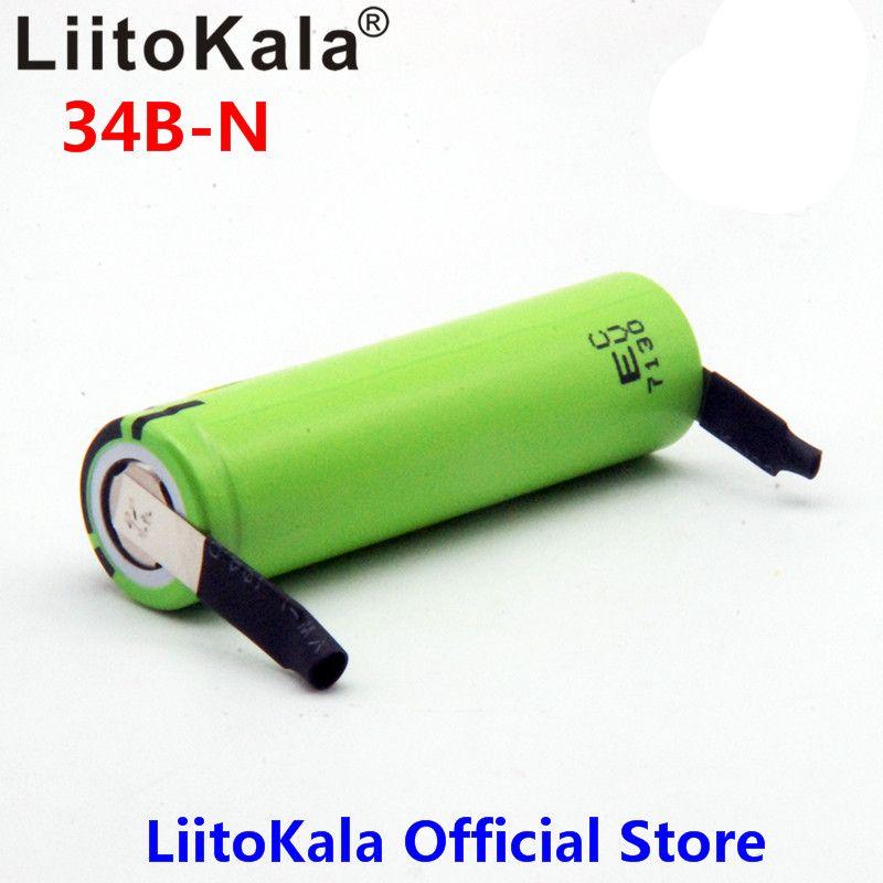 2018 Liitokala neue original NCR18650B 3,7 V 3400 mAh 18650 lithium-akku + DIY nickel stück