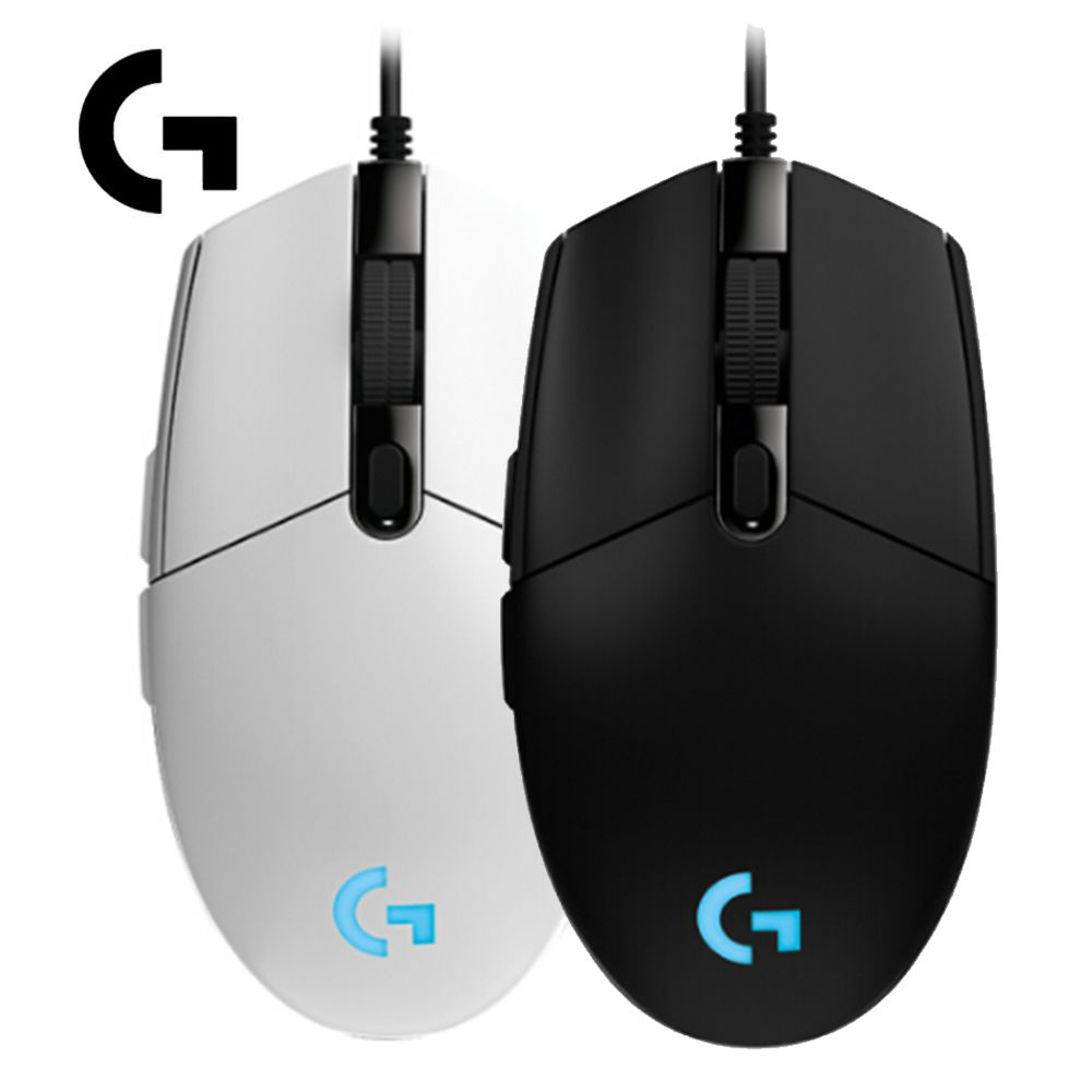 Logitech G102 IC PRODIGY 6000DPI PC Gamer 1000Hz Polling Rate 16.8M Color RGB Gaming Mouse Gamer - Black/White