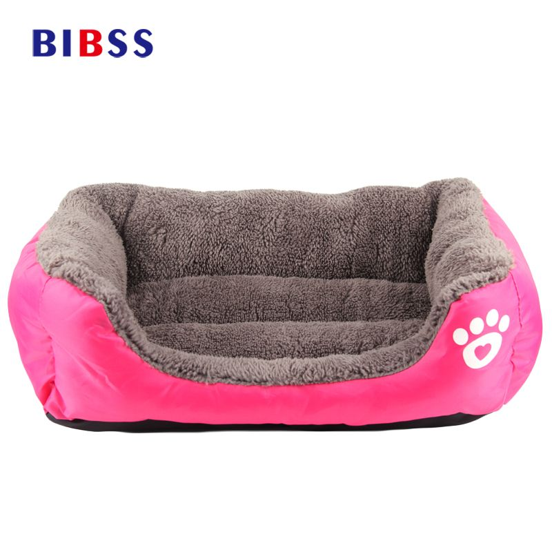 Cozy Soft Cute Pet Dog <font><b>House</b></font> Fabric Warm Cotton Pet Dog Beds for Cat Small Dogs Puppy Chihuahua Yorkshire Large Dog Bed
