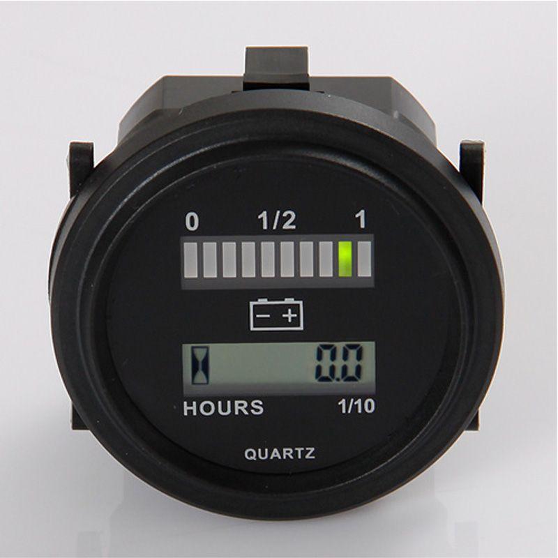 Digital LED State Battery Charge Indicator 12V,24V,36V,48V,72V  LCD hour meter for golf carts motorcycle forklift MARINE