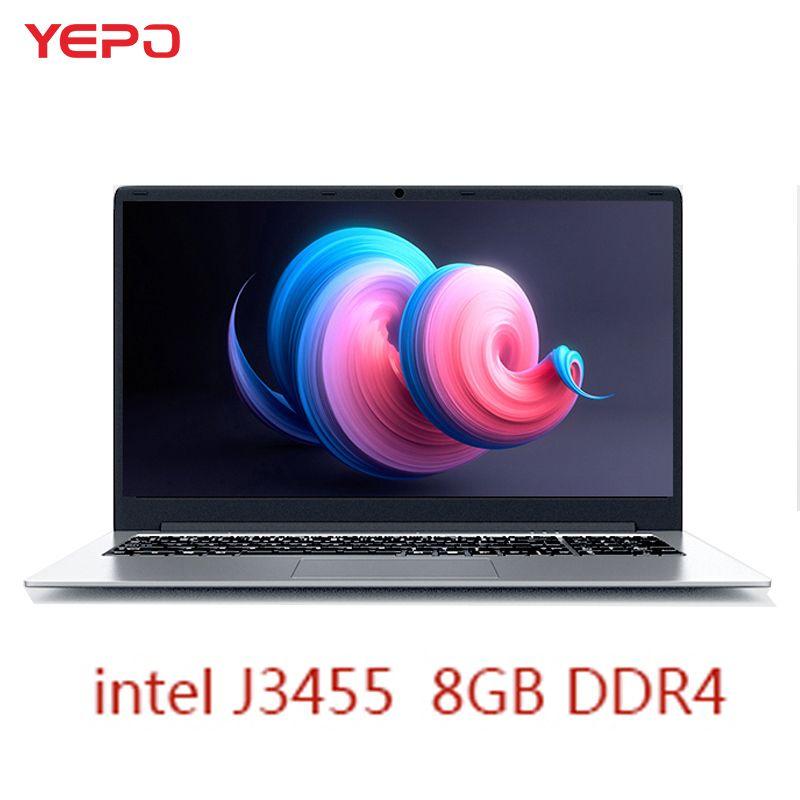 YEPO Notebook Computer 15,6 zoll 8 GB RAM DDR4 256 GB/512 GB SSD 1 TB HDD intel J3455 quad Core Laptops Mit FHD Display Ultrabook
