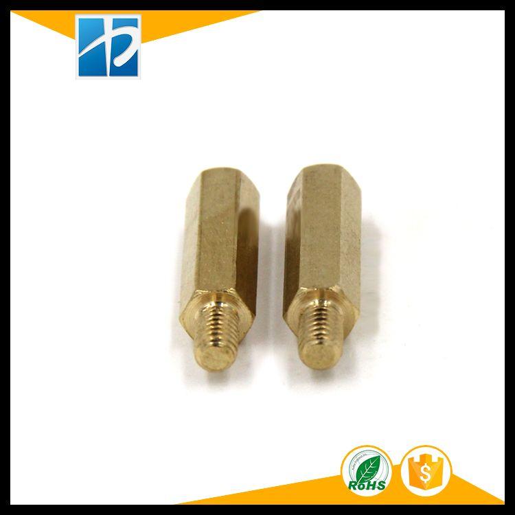 (20 Teil/los) M3, M4 * L + 6mm Sechskantmutter Abstand Schraube Messing Gewinde Säule PCB Standoff Spacer hw040