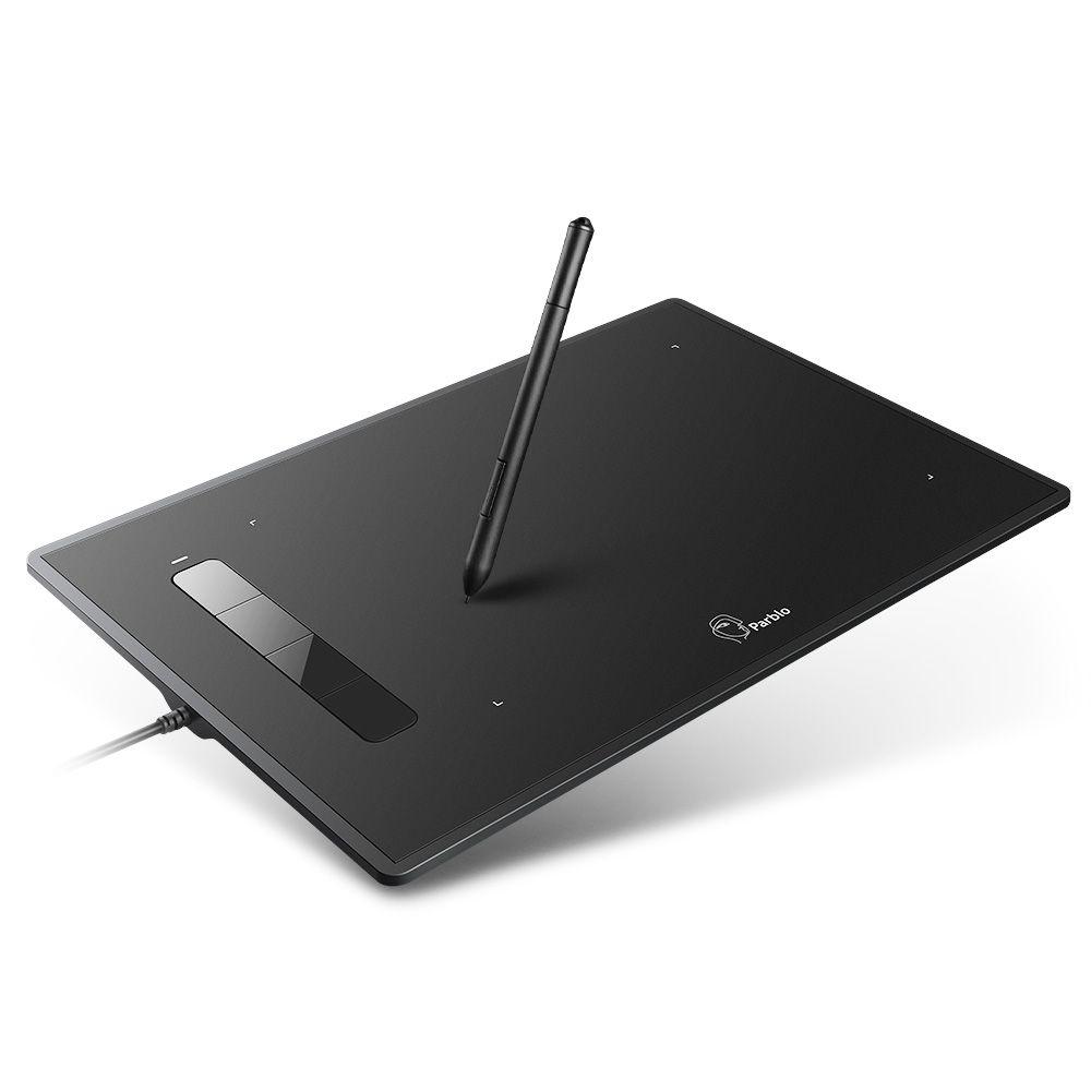 Parblo L'île A609 Graphique Dessin Tablet 8x5 pouces 220 RPS 5080 LPI avec 2048 Niveaux Pression Batterie-Plume libre