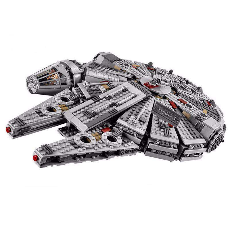 Stars Wars Model Building Blocks Set Millennium Falcon Figure Toys Compatible Legoingly StarWars Gift Toys For Children