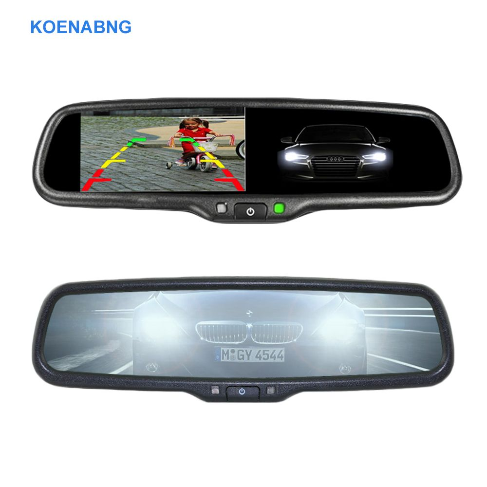Electronic Auto Dimming 4.3 TFT LCD HD 800*480 Special Bracket Car Rear View Rearview Mirror Monitor for Toyota Hyundai Nissan
