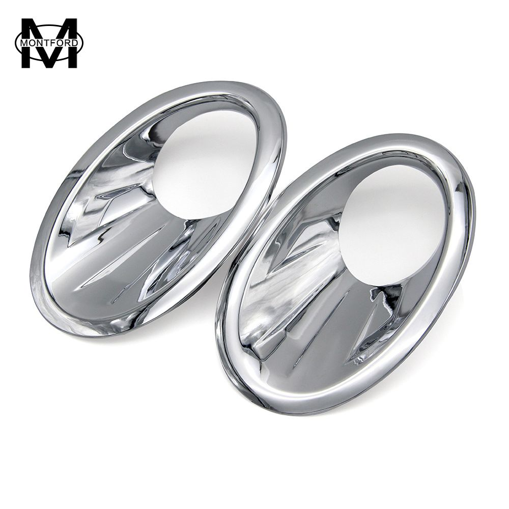 MONTFORD Car Styling For Nissan Qashqai And Qashqai+2 2010 2011 2012 2013 ABS Chrome Front Fog Light Cover  Head Fog Lamp Trims