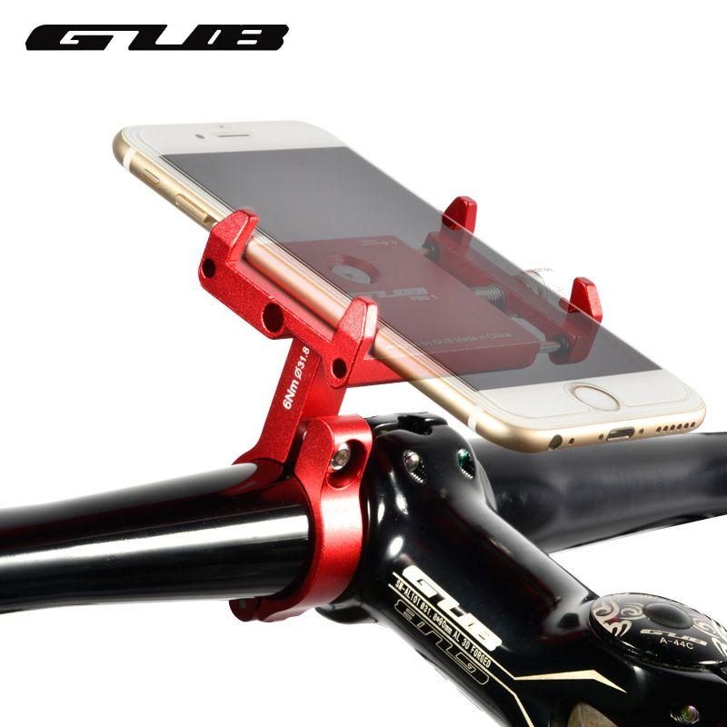 GUB PR01 Aluminum Bike Phone Holder For 3.5-6.2 inch Smartphone Adjustable Universal Support GPS Bike Phone Stand