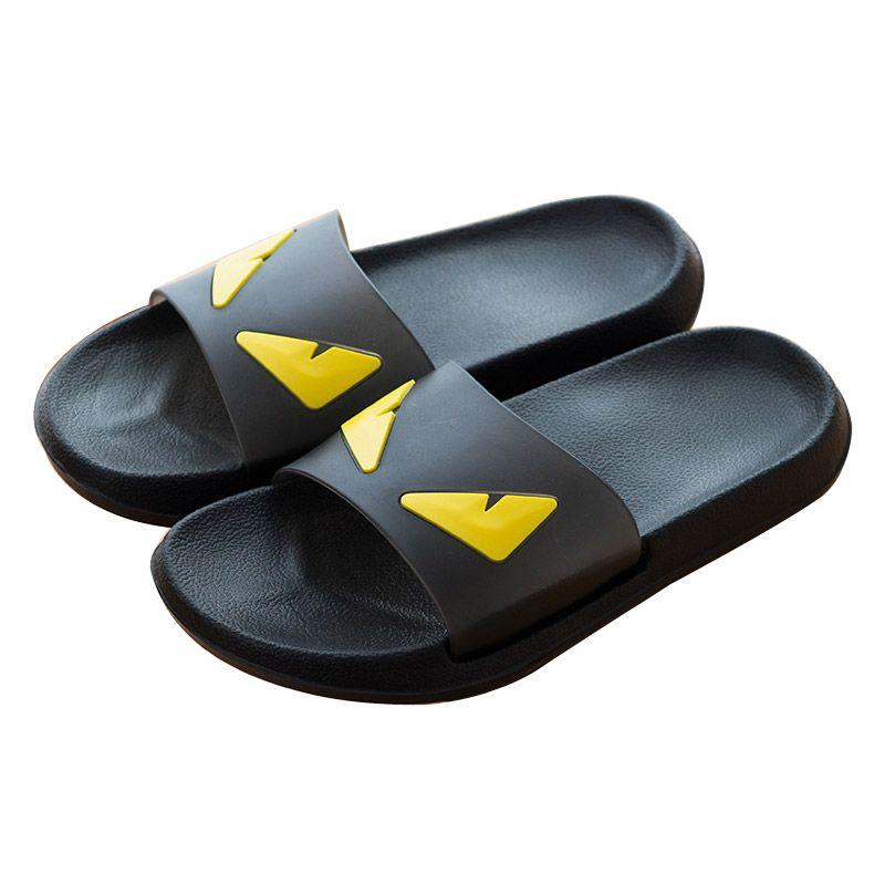 COOLSA Men's Summer Non-slip EVA Monster Slippers <font><b>Couples</b></font> Home Anti-slip Slippers Women's White/Black Slippers Drop Shipping