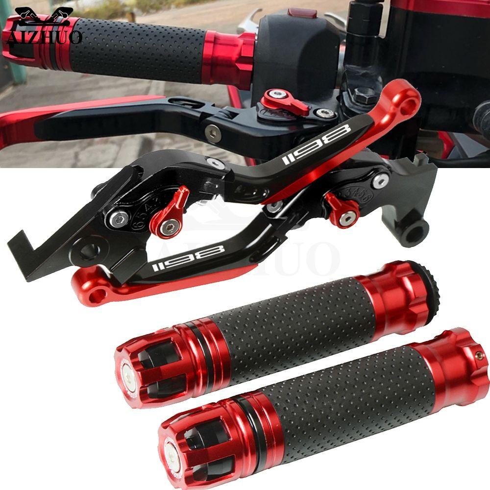 Motorrad Zubehör Bremse Kupplung Hebel Erweiterbar + Hand Grips Lenker Für DUCATI 1198/S/R 1198 S 1198R 2009-2011 2010