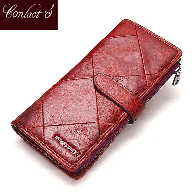 2019 véritable cuir de vachette femmes portefeuille téléphone poche sac à main portefeuille femme porte-carte dame embrayage Patchwork Carteira Feminina