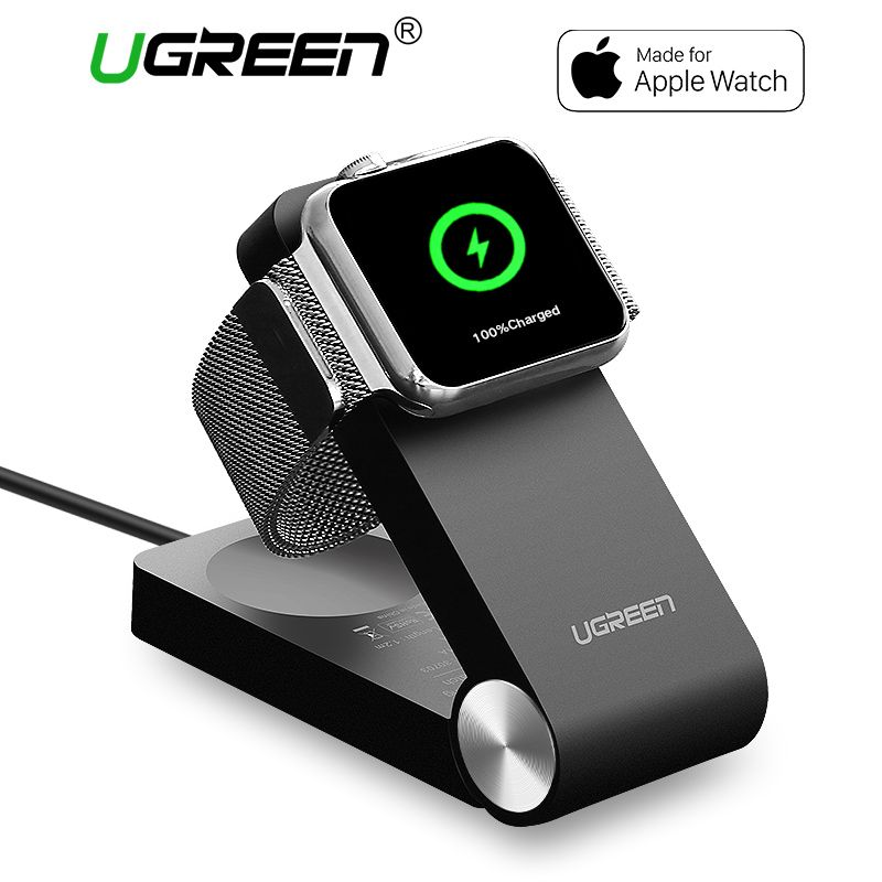 Ugreen Wireless Charger for Apple Watch Charger <font><b>Foldable</b></font> Apple MFi Certified Charger With 1.2m Cable for 38mm & 42mm Apple Watch