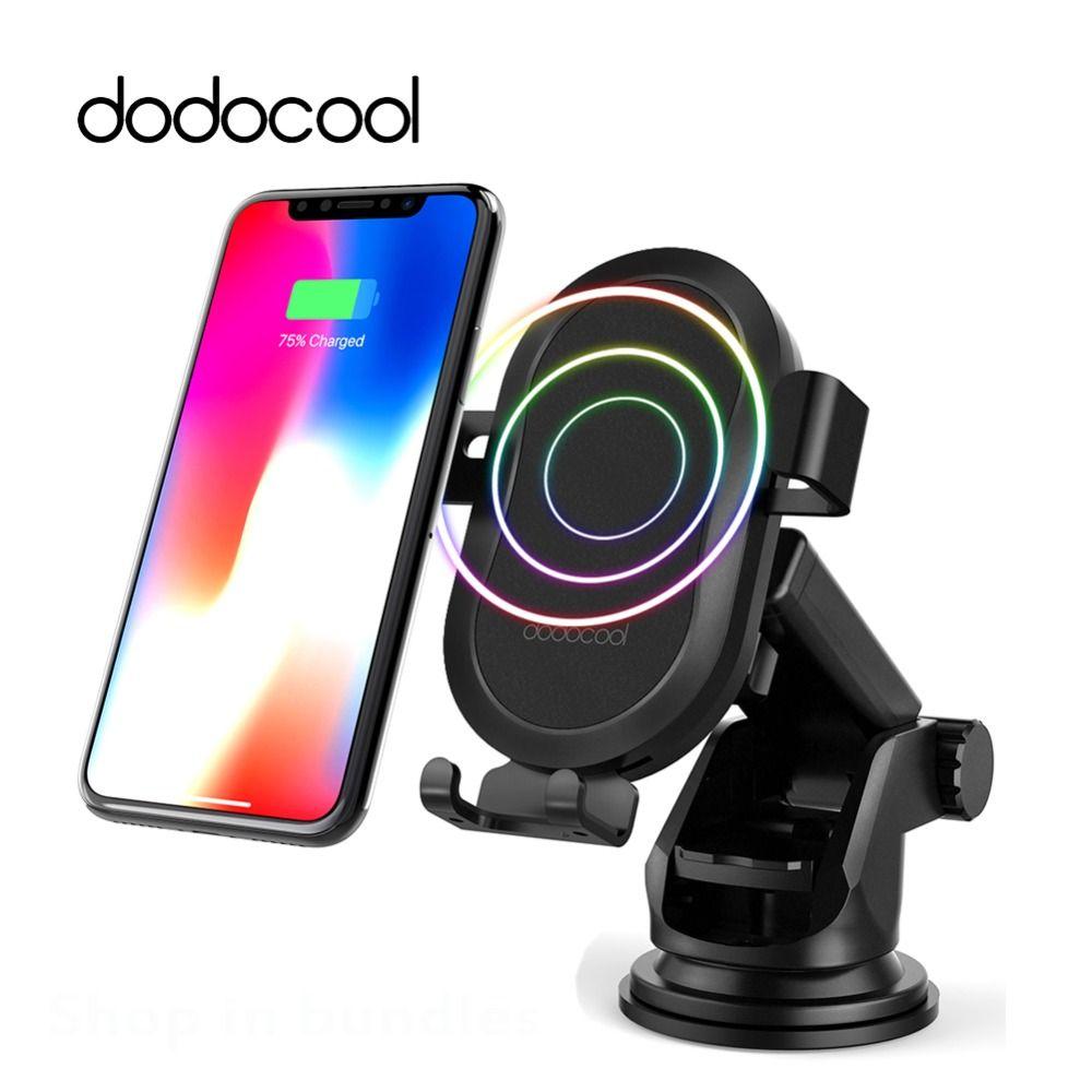 Dodocool 10 watt Schnelle Drahtlose Ladegerät Auto Ladegerät Für iPhone X 8 Plus Drahtlose Aufladen Pad Auto Halter für Samsung galaxy S9 Note8