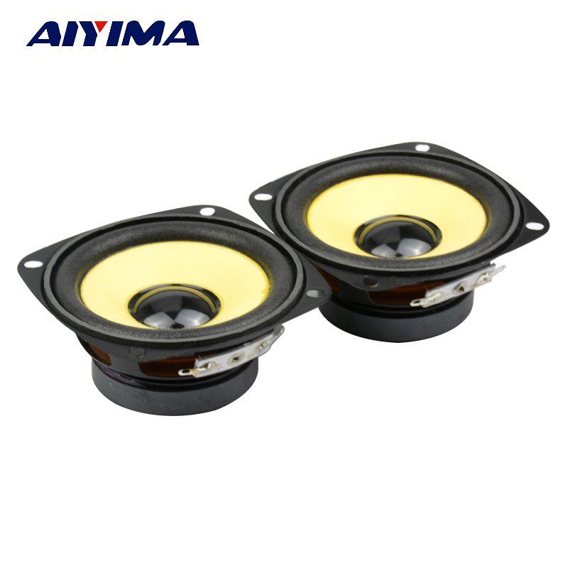 AIYIMA 2 pièces 3 Pouces Gamme Complète HIFI Haut-parleurs Audio Driver 4 ohms 10W bricolage Son Multimédia Amplificateur Haut-Parleur de Musique Haut-Parleur Home Cinéma