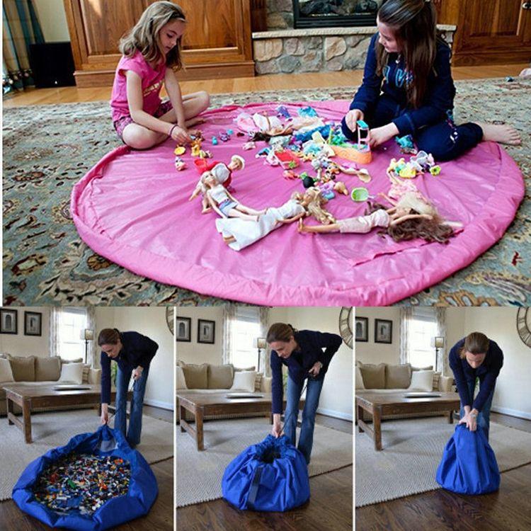 Tapete Infantil New Portable Kids Toy Storage Bag and Play Mat Toys Organizer Drawstring Pouch Fashion Practical Storage