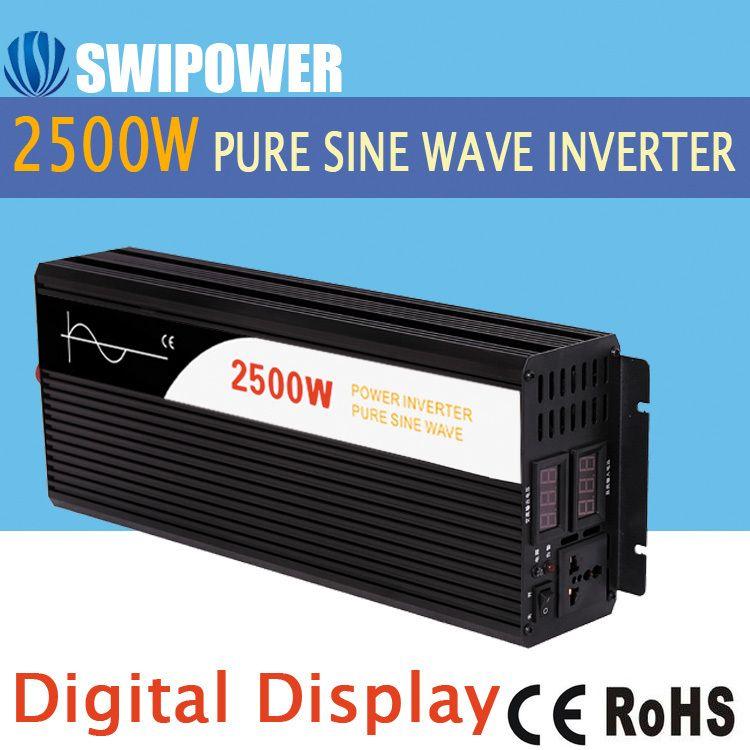 2500 Watt rein sinus solar power inverter DC 12 V 24 V 48 V zu AC 110 V 220 V digitalanzeige