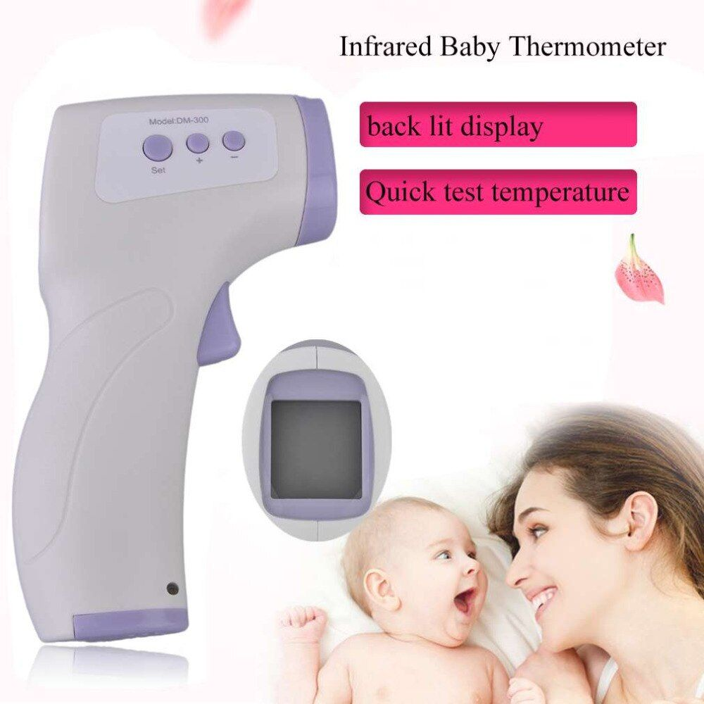 Professional Digital LCD Infrared Baby Thermometer Non Contact Temperature Measurement Diagnostic Tool Device DM-300