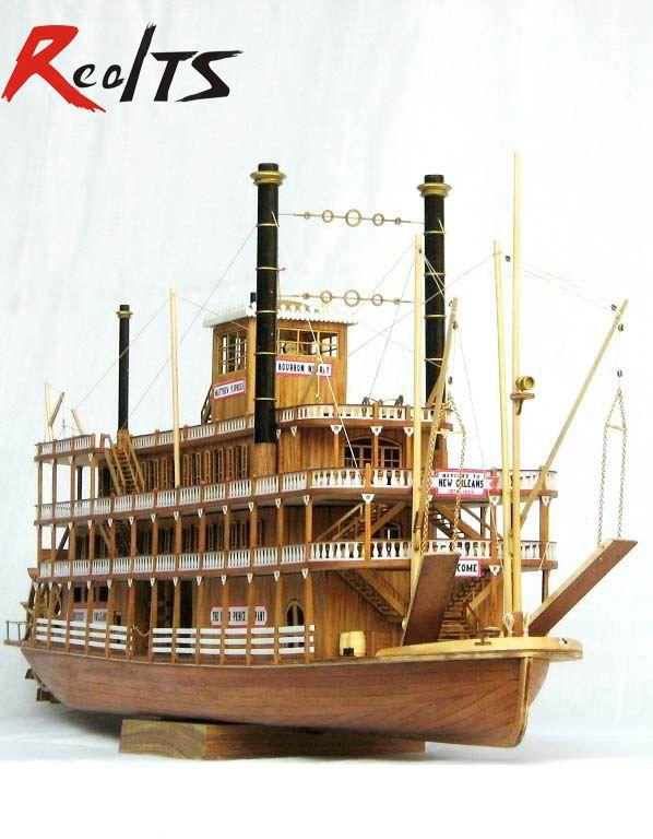 RealTS échelle bois bateau 1/100 classique en bois vapeur-navire USS Mississippi modèle kit