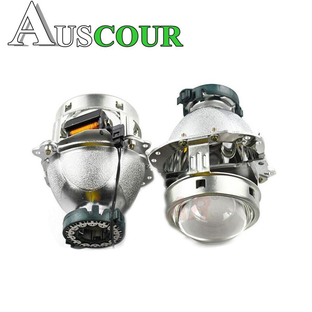 2pcs 3.0 inch car Bixenon hid Projector lens metal holder D1S D2S D3S D4S hid xenon kit bulb lamp headlight car styling Modify