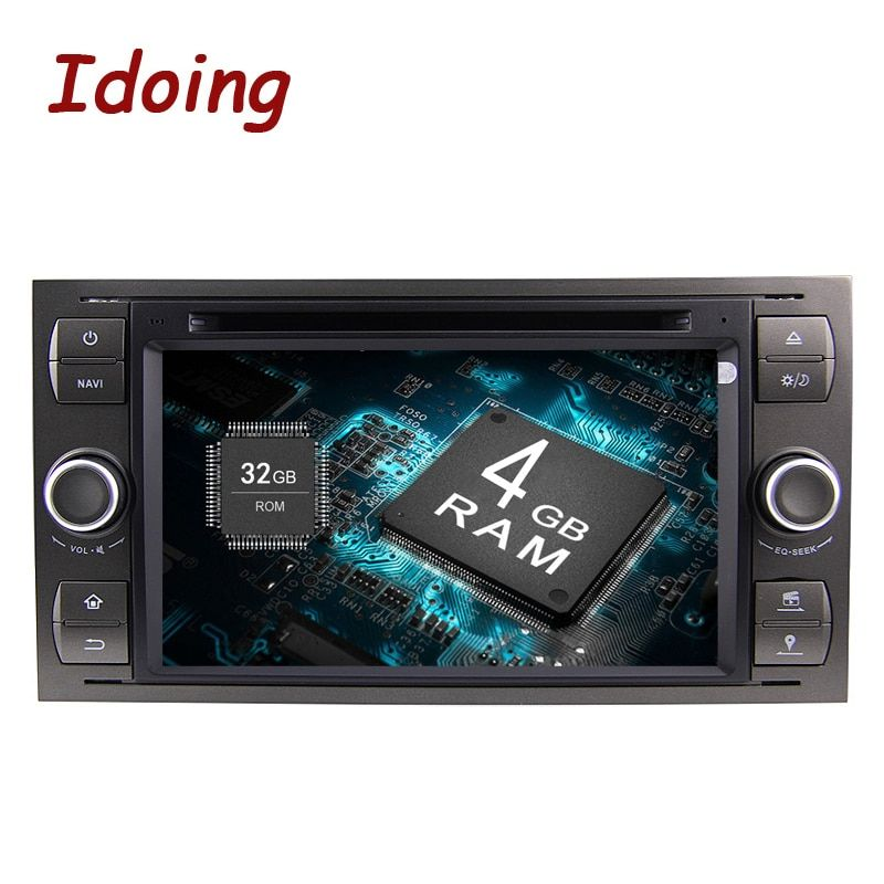 Idoing 2Din Android9.0 Für Ford Focus2 Mondeo MAX Lenkung-Rad Auto DVD Multimedia Video Player 4G + 32G Multimedia Schnelle Boot