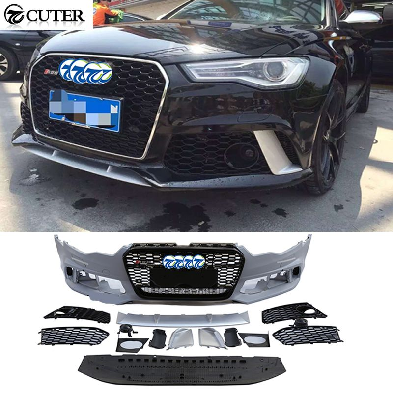 A6 RS6 style PP car front bumper body kits for Audi A6 RS6 2013-2016
