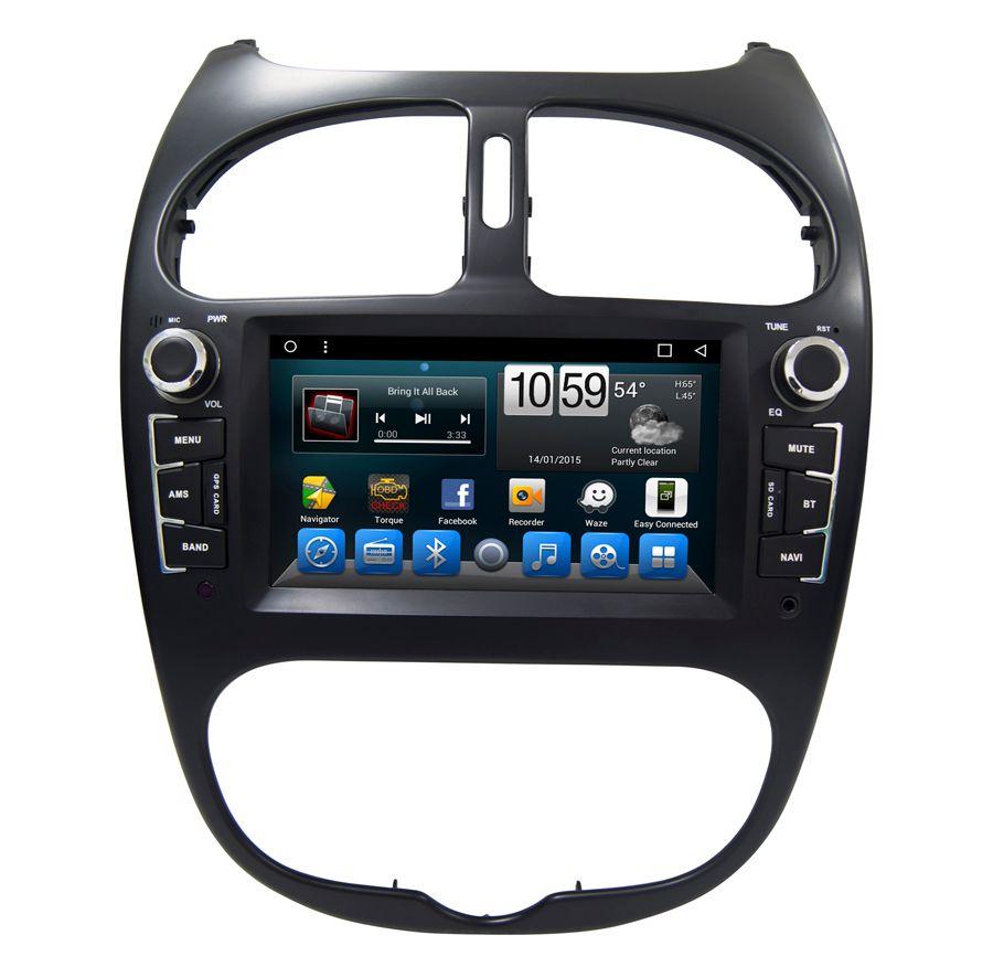Navirider auto dvd player für Peugeot 206 octa core android 8.1.0 auto gps multimedia head unit stereo tape recorder
