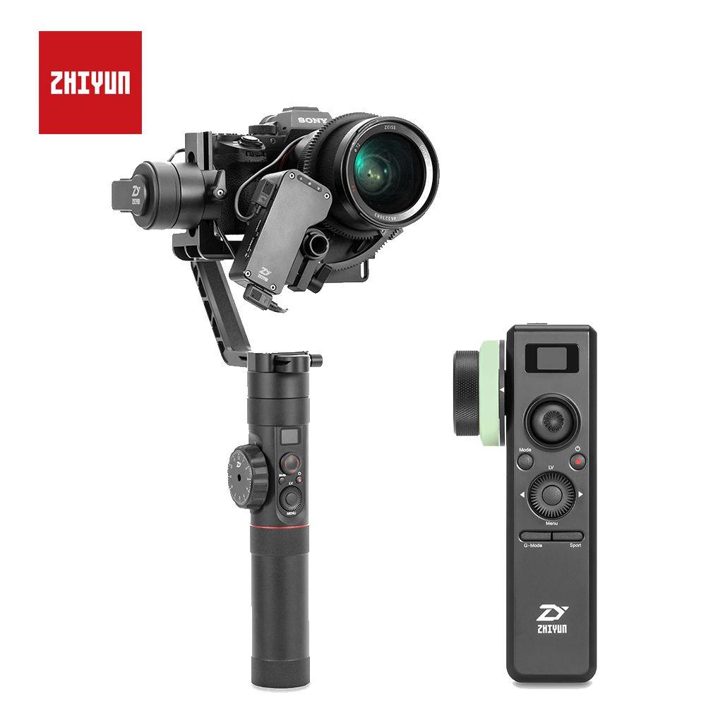 ZHIYUN Kran 2 3-Achse Handheld Gimbal mit Servo Follow Focus für Canon 5D2 5D3 5D4 GH3 GH4 Sony DSLR Kamera Stabilisator