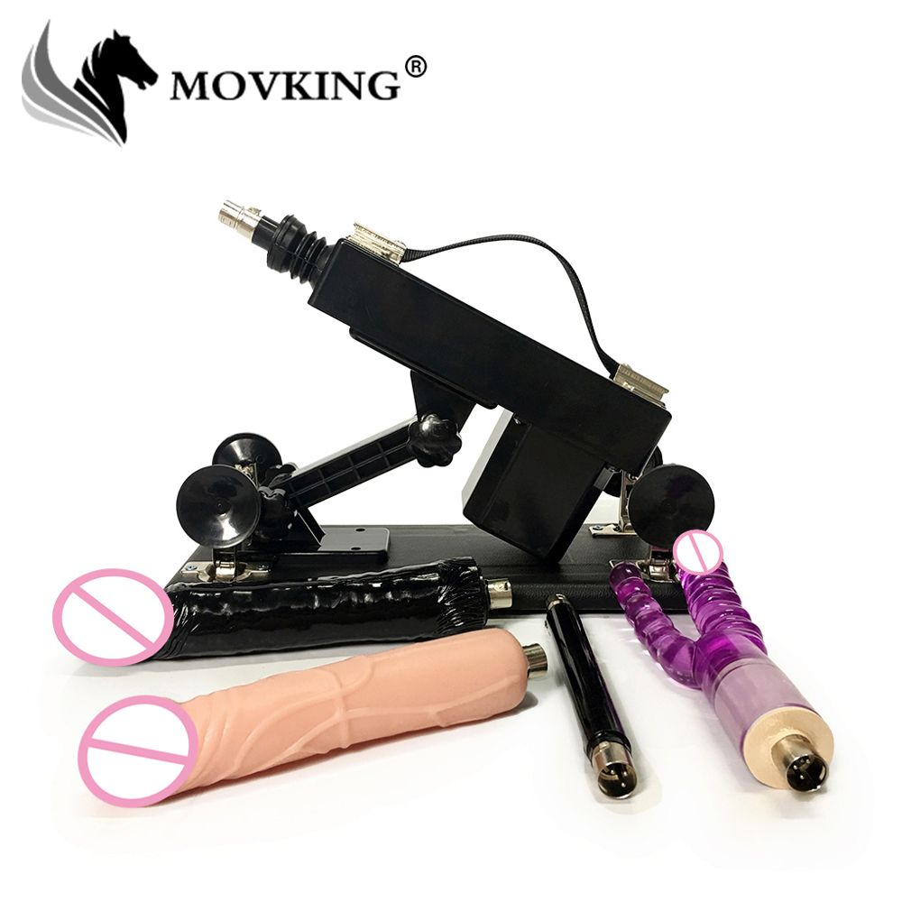 MOVKING Sex Machine for Women Adjustable Speed Pumping Gun with Double Dildo Updated Version Automatic Female Love Machines