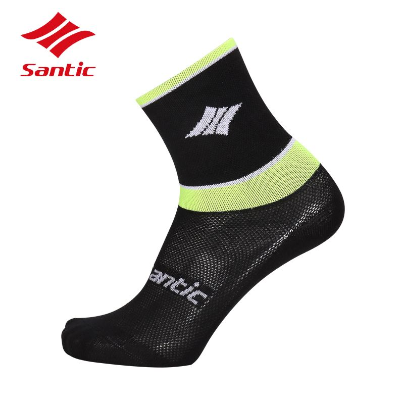 Santic Men Sports Socks Outdoor Basketball Bike Bicycle Short Socks Breathable Football Running Cycling Socks Meias Calcetines