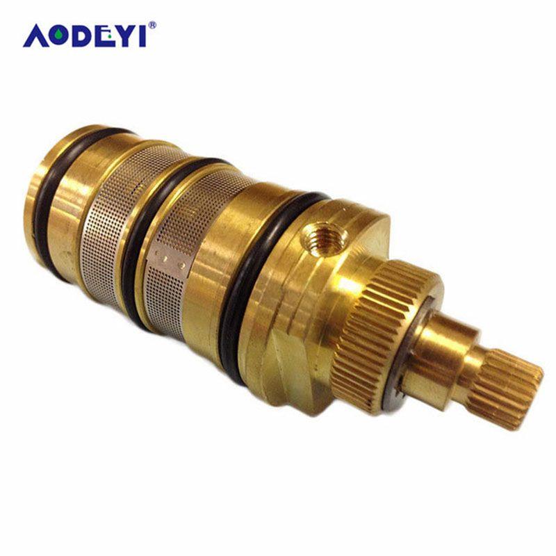 AODEYI vanne thermostatique bobine cuivre robinet cartouche bain mélangeur robinet douche mitigeur ajuster la température de l'eau de mélange