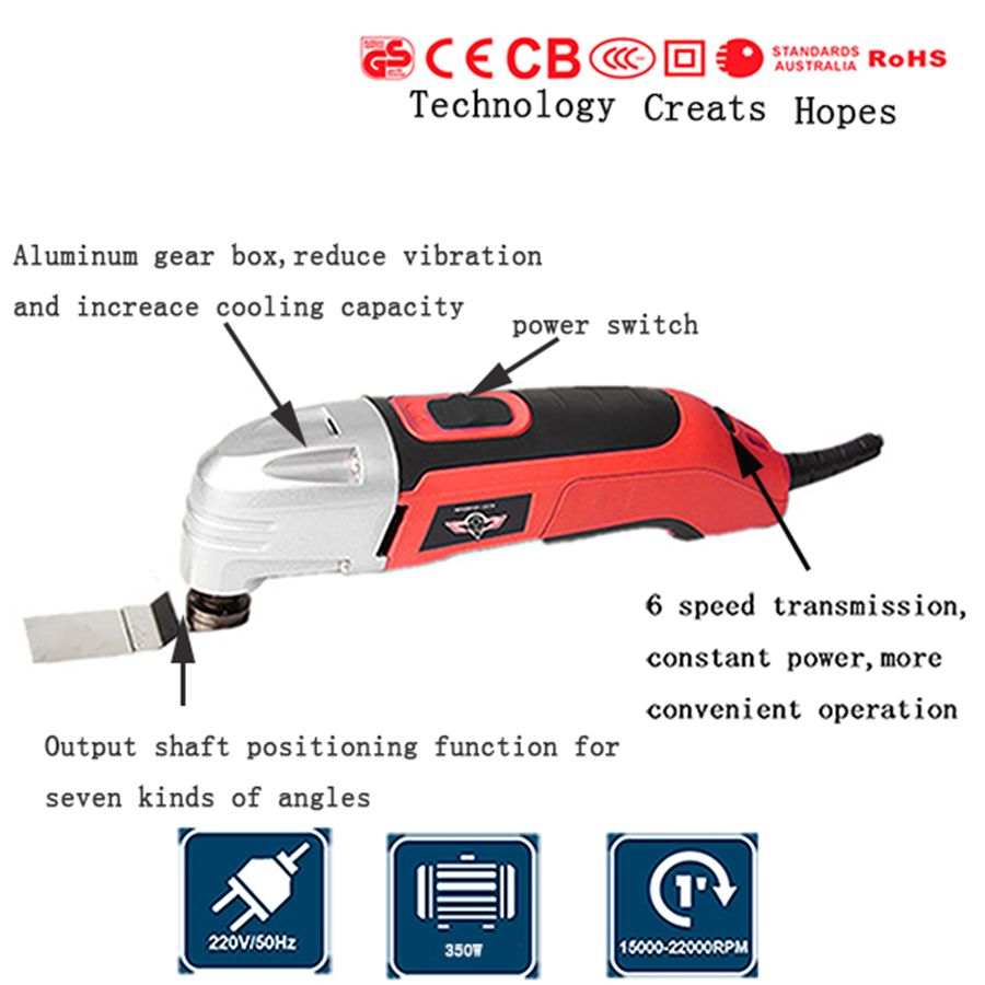 electric Trimmer 300w multi master oscillating tools+37pc oscillating tools saw blade ,wood working tool
