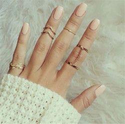 H: HYDE 6 шт./партия уникальный регулируемый комплект панк-колец стиль золотого цвета кольца для суставов палец для женщин для суставов пальцев...