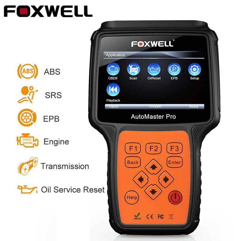 Foxwell NT614 OBD2 Automotive Scanner ABS SRS Airbag EPB Transmission Reset OBD 2 Auto Scanner Multi Language ODB2 Diagnostic
