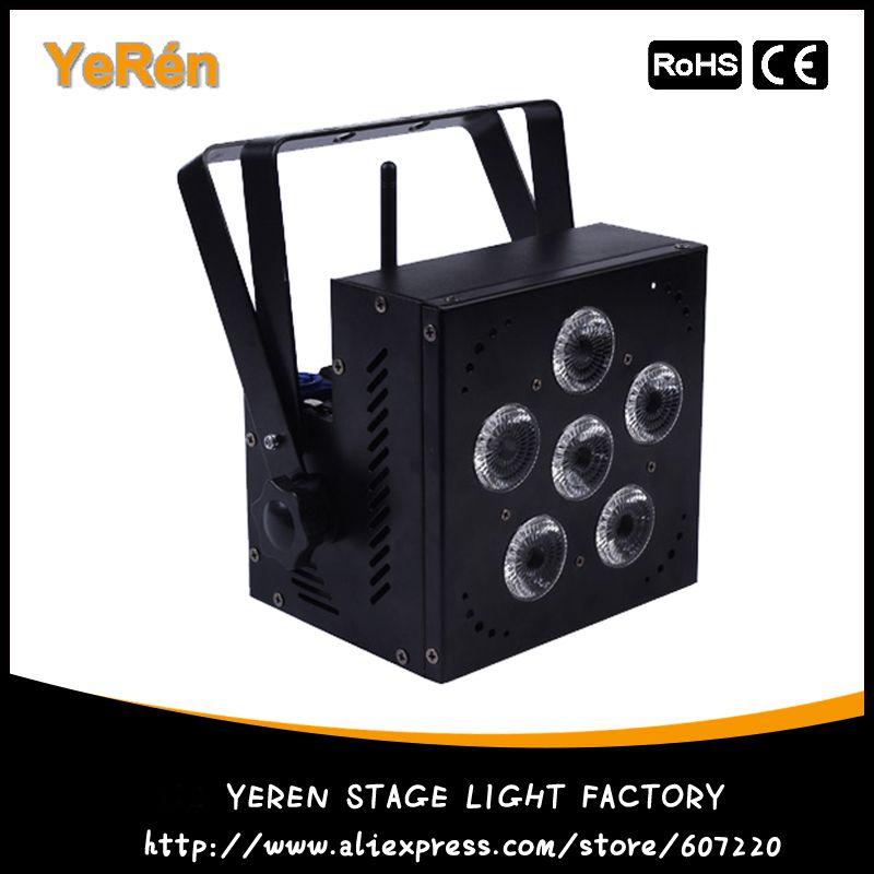 Wireless Battery Powered LED Par Light RGBWA+UV 6in1 Color DJ Wash Light DJ Lights