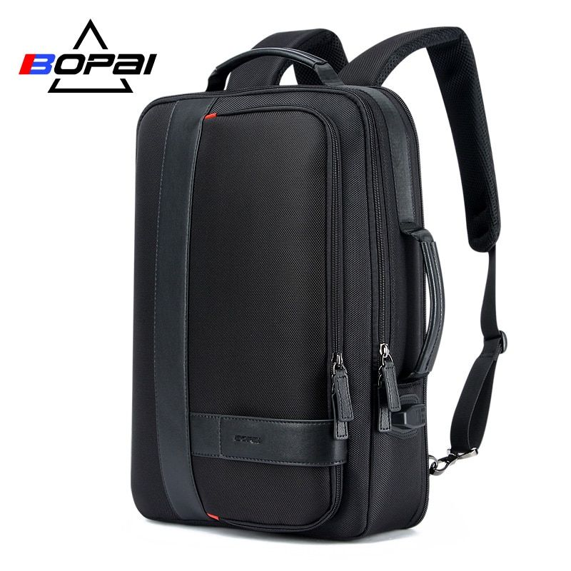BOPAI Business Men's Backpack Black USB Charging Anti Theft Laptop Backpack 15.6 Inch Male Large Capacity College <font><b>School</b></font> Bags