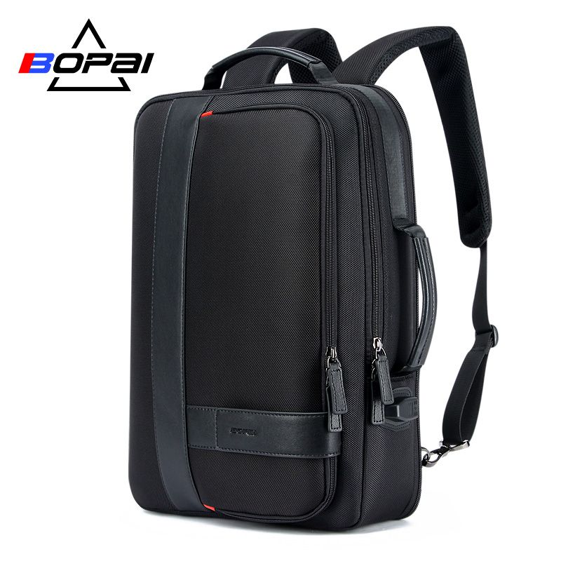 BOPAI Business Men's Backpack Black USB Charging <font><b>Anti</b></font> Theft Laptop Backpack 15.6 Inch Male Large Capacity College School Bags